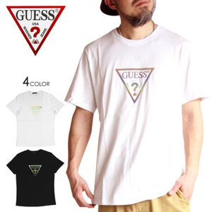 SALE セール GUESS ゲス Tシャツ メンズ MULTI TRIANGLE TEE 2020年春夏|3direct