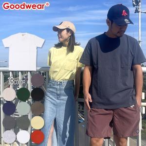 GOODWEAR Tシャツ メンズ USAコットン無地ポケットT 2W7-2500 2018春 ブラック/チャコール/カーキ/ミント/ネイビー/ピンク/ブルー/ホワイト/イエロー M/L/XL|3direct