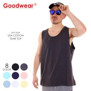GOODWEAR Tシャツ メンズ USAコットンタンクトップ 2W7-3509 2018春 ブラック/チャコール/ミント/ネイビー/ピンク/ホワイト/イエロー M/L/XL|3direct
