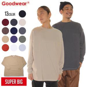 SALE セール GOODWEAR グッドウェア Tシャツ ロンT メンズ USAコットン袖リブSUPER BIGポケットロンT 2020春|3direct