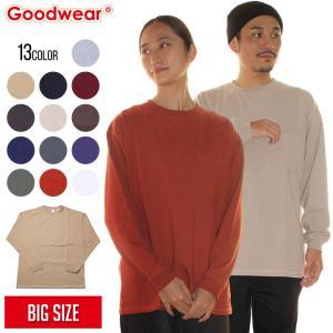 SALE セール GOODWEAR グッドウェア Tシャツ ロンT メンズ USAコットン袖リブBIGポケットロンT 2020春|3direct