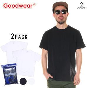 SALE セール GOODWEAR グッドウェア Tシャツ メンズ USAコットン2Pパッククルーネック半袖Tシャツ 2020春|3direct