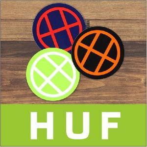 HUF ハフ ステッカー CIRCLE H STICKER / ロゴ アクセサリー 14 2014|3direct