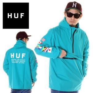 HUF ハフ ジャケット メンズ REGIONAL TOUR ANORAK JK00084 2018秋冬 ライトグリーン S/M/L|3direct