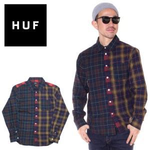 SALE セール HUF ハフ フランネルシャツ メンズ SWIRE L/S WOVEN SHIRT 2019秋冬|3direct