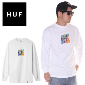 SALE セール HUF ハフ Tシャツ ロンT メンズ COMICS BOX LOGO L/S TEE|3direct
