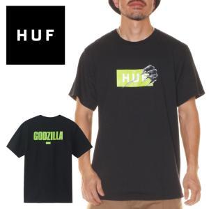 HUF ハフ Tシャツ メンズ GODZILLA BAR LOGO S/S TEE|3direct