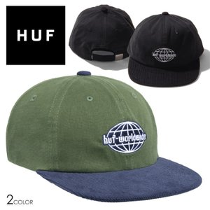 HUF キャップ GLOBAL CORDUROY 6PANEL HAT ブランド 帽子 CAP ストリート系 スケーター HT00578FA21 3direct