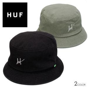 HUF ハフ バケットハット ブランド おしゃれ WASHED SCRIPT BUCKET HAT ハット 帽子 2021年 メンズ レディース ストリート スケーター HT80004 3direct