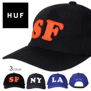 HUF ハフ キャップ CAP 帽子 ベイスボールキャップ  6パネル フェルト メンズ ストリート HUF CITY 6 PANEL CAP HT80008 3direct