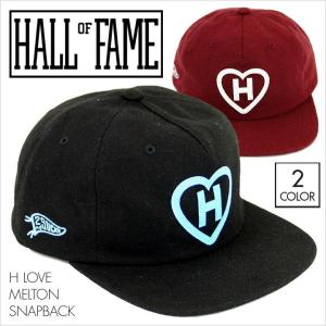 HALL OF FAME ホールオブフェイム キャップ H LOVE MELTON SNAPBACK [HL1503] メンズ / メルトン レザー ロゴ スナップバック ストリート スポーツ 15 2015 FW|3direct