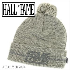 HALL OF FAME ホールオブフェイム ビーニー REFLECTIVE BEANIE [HL1511] メンズ / リフレクター ニットキャップ ロゴ ボンボン ストリート スポーツ|3direct
