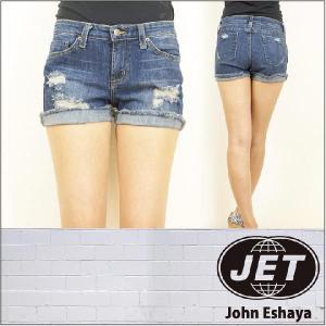 JET / John Eshaya ジェット ショート パンツ デニム THRASHED SHORTS|3direct