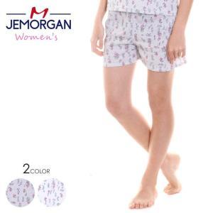 JEMORGAN ショーツ レディース 花柄サーマルショートパンツ J8384-296 2018春 グレー/ホワイト フリーサイズ|3direct