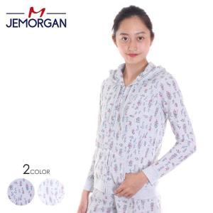 JEMORGAN パーカー レディース F/Zパーカー J8628-296 2018春夏 ホワイト/グレー フリーサイズ|3direct