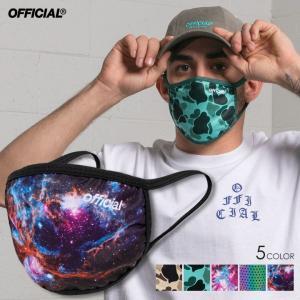 【即納】【在庫あり】 OFFICIAL マスク FACEMASK 男女兼用 大人用 子供用 ファッションマスク ウイルス 衛生 花粉 快適 国内発送 洗って使える 再利用 総柄 3direct