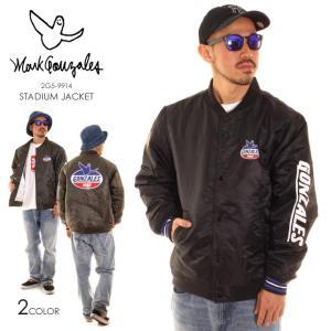 MARK GONZALES マークゴンザレス ジャケット メンズ ロゴ&エンジェル中綿スタジャン 2G5-9914|3direct