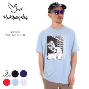 MARK GONZALES Tシャツ メンズ PORTRAIT Tシャツ 2G7-3303 2018春 ブラック/ネイビー/レッド/サックス/ホワイト M/L/XL|3direct