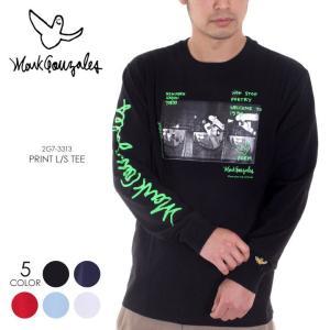 MARK GONZALES Tシャツ ロンT メンズ プリント L/S TEE 2G7-73313 2018春 ブラック/ネイビー/レッド/ブルー/ホワイト M/L/XL|3direct