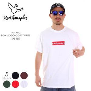 MARK GONZALES Tシャツ メンズ BOXロゴ&コピーライト Tシャツ 2G7-3320 2018春 ブラック/ブラウン/グリーン/レッド/ホワイト M/L/XL|3direct