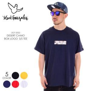 MARK GONZALES Tシャツ メンズ デザートカモBOXロゴ Tシャツ 2G7-3322 2018春 ブラック/イエロー/ネイビー/レッド/ホワイト M/L/XL|3direct