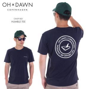 OH DAWN Tシャツ メンズ HUMBLE TEE 2018春 OMSP1801 ネイビー S/M/L|3direct