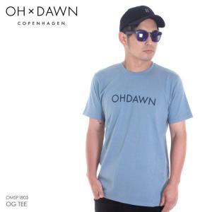 OH DAWN Tシャツ メンズ OG TEE 2018春 OMSP1805 ストーンブルー S/M/L|3direct