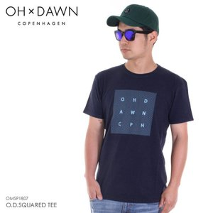 OH DAWN Tシャツ メンズ O.D.SQUARED TEE 2018春 OMSP1807 ネイビー S/M/L|3direct