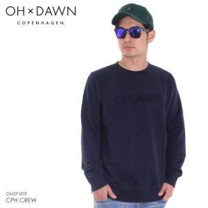 OH DAWN スウェット メンズ CPH CREW 2018春 OMSP1819 ネイビー S/M|3direct