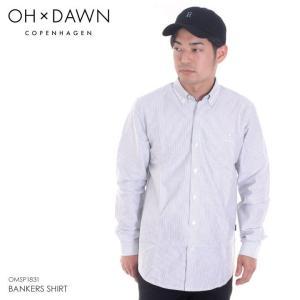 OH DAWN シャツ メンズ BANKERS SHIRT 2018春 OMSP1831 ストライプ S/M|3direct