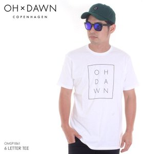 OH DAWN Tシャツ メンズ 6 LETTER TEE 2018春 OMSP1861 ホワイト S/M/L|3direct