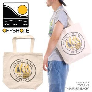 OFFSHORE トートバッグ TOTE BAG NEWPORT BEACH OS18-2AC-S06 2018夏 ナチュラル ワンサイズ|3direct
