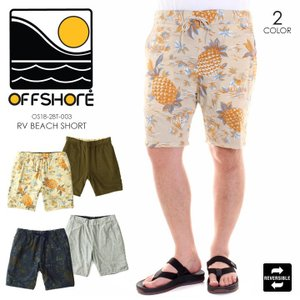 OFFSHORE ハーフパンツ メンズ RV BEACH SHORT OS18-2BT-003 2018夏 ベージュ/ネイビー M/L|3direct