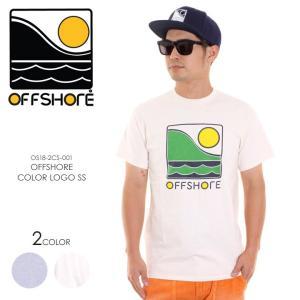 OFFSHORE Tシャツ メンズ OFFSHORE COLOR LOGO S/S OS18-2CS-001 2018夏 グレー/ナチュラル S/M|3direct