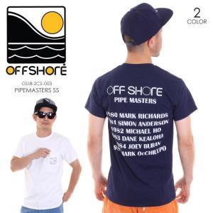OFFSHORE Tシャツ メンズ PIPEMASTERS S/S OS18-2CS-003 2018夏 ホワイト/ネイビー S/M|3direct