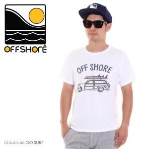 OFFSHORE Tシャツ メンズ GO SURF OS18-2CS-S01 2018夏 ホワイト S/M/L|3direct