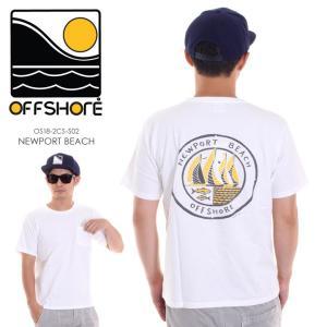 OFFSHORE Tシャツ メンズ NEWPORT BEACH OS18-2CS-S02 2018夏 ホワイト S/M/L|3direct