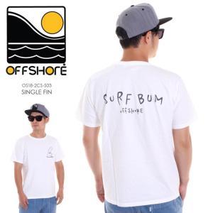 OFFSHORE Tシャツ メンズ SINGLE FIN OS18-2CS-S03 2018夏 ホワイト S/M/L|3direct