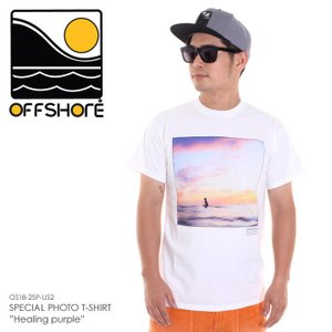 OFFSHORE Tシャツ メンズ SPECIAL PHOTO T-SHIRT HEALING PURPLE OS18-2SP-US2 2018夏 ホワイト S/M|3direct