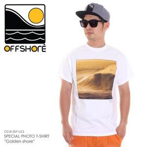 OFFSHORE Tシャツ メンズ SPECIAL PHOTO T-SHIRT GOLDEN SHORE OS18-2SP-US3 2018夏 ホワイト S/M|3direct