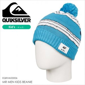 QUICKSILVER ビーニー キッズ MR MEN KIDS BEANIE EQKHA03006 17-18 ブルー フリーサイズ|3direct