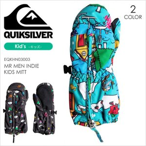 QUICKSILVER スノーグローブ キッズ MR MEN INDIE KIDS MITT EQKHN03003 17-18 ブラック/ブルー S/M/L|3direct