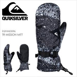 QUICKSILVER スノーグローブ メンズ TR MISSION MITT EQYHN03096 17-18 ブラック/黒/柄 S/M/L|3direct