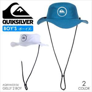 ハット キッズ QUICKSILVER GELLY 2 BOY - AQKHA03156 クイックシルバー サファリハット ロゴ シンプル 紫外線 帽子|3direct
