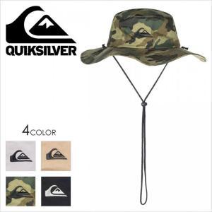 ハット メンズ QUICKSILVER BUSHMASTER - AQYHA03314 クイックシルバー サファリハット ロゴ シンプル 紫外線|3direct