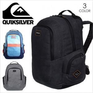 リュック メンズ QUICKSILVER SCHOOLIE - EQYBP03391 クイックシルバー バックパックバックパック ロゴ シンプル ブラック ネイビー グレー 通勤 通学 旅行  17|3direct