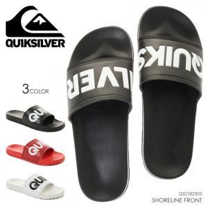 QUICKSILVER ビーチサンダル メンズ SHORELINE FRONT QSD182305 2018夏 ブラック/レッド/ホワイト 26cm/27cm/28cm|3direct