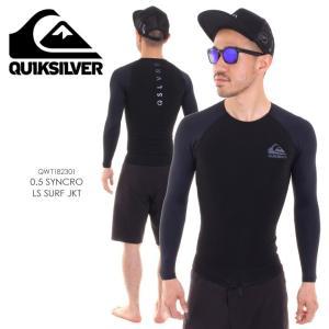 QUICKSILVER ラッシュガード メンズ 0.5 SYNCRO LS SURF JKT QWT182301 2018夏 ブラック M/L/XL|3direct