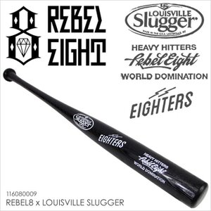 REBEL8 レベルエイト バット メンズ REBEL8 x LOUISVILLE SLUGGER 限定 メジャーリーグ ベースボール 野球 硬式用バット ブラック  2016 16|3direct