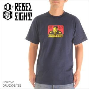 Tシャツ メンズ REBEL8 DRUDGE TEE - 110010145 レベルエイト レベル8 プリント サンプリング 2017 17|3direct